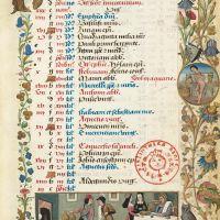 Календарь: январь (f. 1r)
