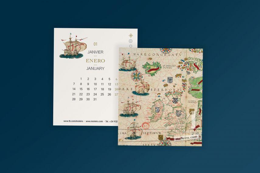 Moleiro Calendar 2019 CD desk calendar (16 pages of 14x12 cm)