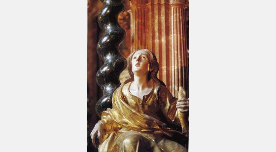 El Arte Barroco en España y Portugal Francisco Hurtado Izquierdo, estátua policromada do tabernáculo da cartuxa de Granada, 1704-1720.