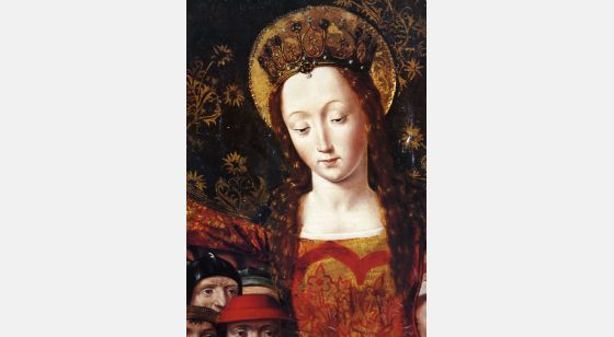 El Arte Barroco en España y Portugal Maître de Santa Maria del Campo, Notre Dame de la Miséricorde (détail), fin du XVe siècle. Musée archéologique, Madrid.