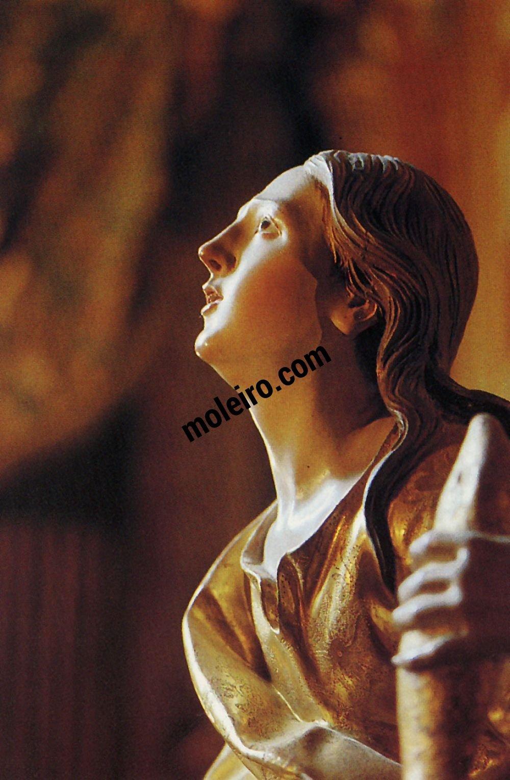 El Arte Barroco en España y Portugal Esta santa personifica a intensidade da elevação mística. Granada (1704-1720), Espanha.