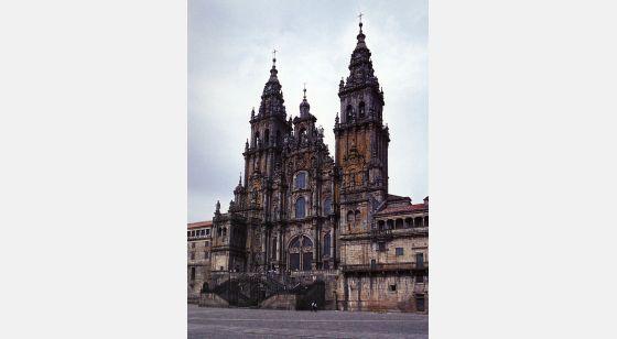 El Arte Barroco en España y Portugal Fachadade Fernando de Casas y Novoa a partir de 1738. Santiago de Compostela, Espanha.