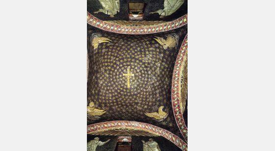 El Arte en la Edad Media Mausoleo di Galla Placidia, vista della cupola, Ravenna, 425-450