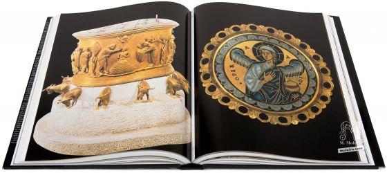 El Arte en la Edad Media Renier di Huy, fonte battesimale, commissionata dall'abate Hellinus, Lieja, San Bartolomé, 1107-1118