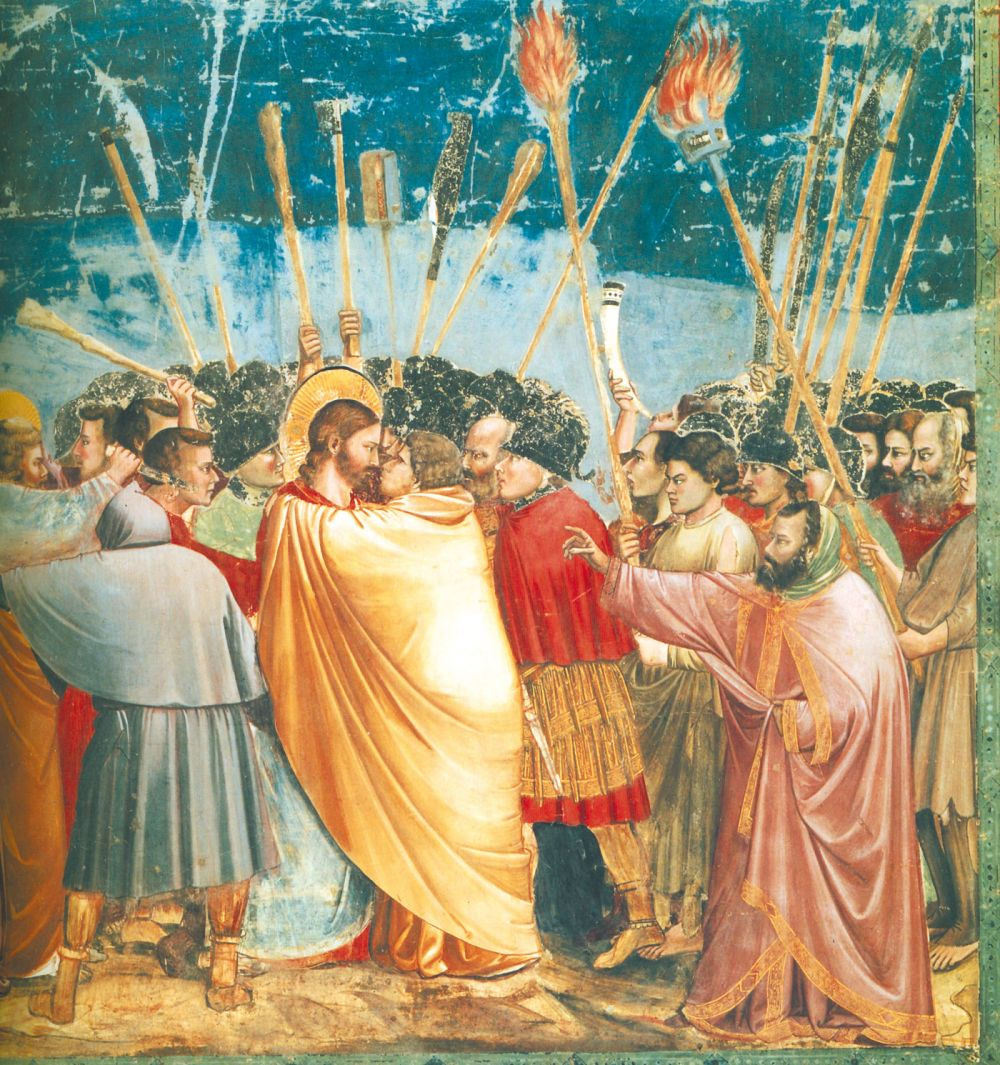 El Arte en la Edad Media Giotto, Arrestation du Christ, Padoue, chapelle des Scrovegni