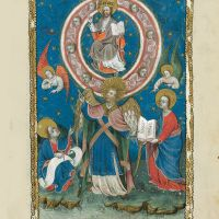 f. 11r, The mighty angel and the seven thunders