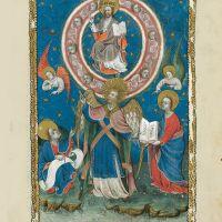 f. 11r, El juramento del ángel y los siete truenos