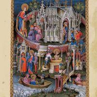f. 1r, Szenen aus dem Leben des Evangelisten Johannes