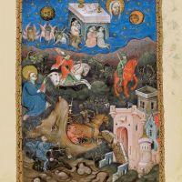 f. 7r, Los cuatro jinetes del Apocalipsis