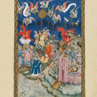 f. 17r, The seven vials of the wrath of God are poured out upon the earth