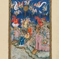 f. 17r, Die sieben Schalen und der Zorn Gottes werden über die Erde vergossen