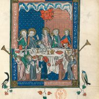 f. 67r, The marriage of the Lamb (Ap. 19, 5-8)
