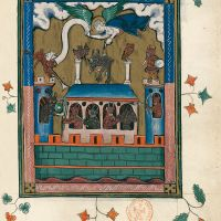 f. 59r, Babylon, the habitation of devils (Ap. 18, 1-3)