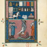 f. 62r, The treasures of Babylon (Ap. 18, 11-14)