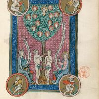 f. 83r, The Tree of Life (Ap. 22, 1-5)