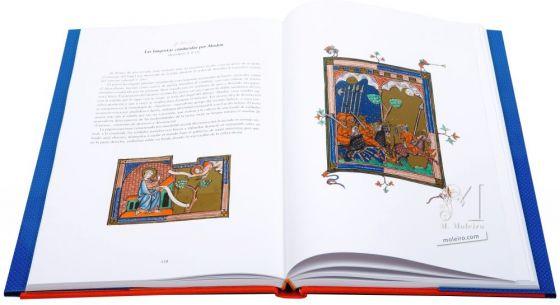 The Apocalypse of 1313 Folios 26v-27 The locusts led by Abbadon (Revelation 9: 8-12)