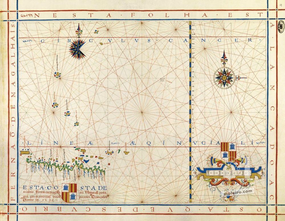 Atlas universal de Fernão Vaz Dourado Mapa 9: Océano Pacífico