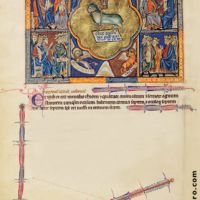 f. 5v, The vision of the Lamb in heaven