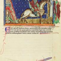 f. 10v, The fourth seal: The rider on the pale horse