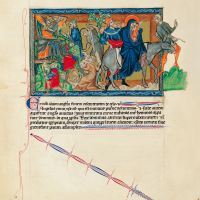 f. 23v, The Massacre of the Innocents; The Flight into Egypt