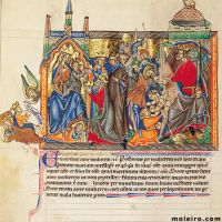 f. 29v, L'adoration des rois mages; le massacre des innocents
