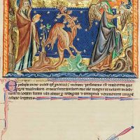 f. 31r, Le dragon poursuit la femme