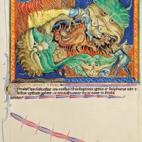 f. 71r, The dragon cast into Hell
