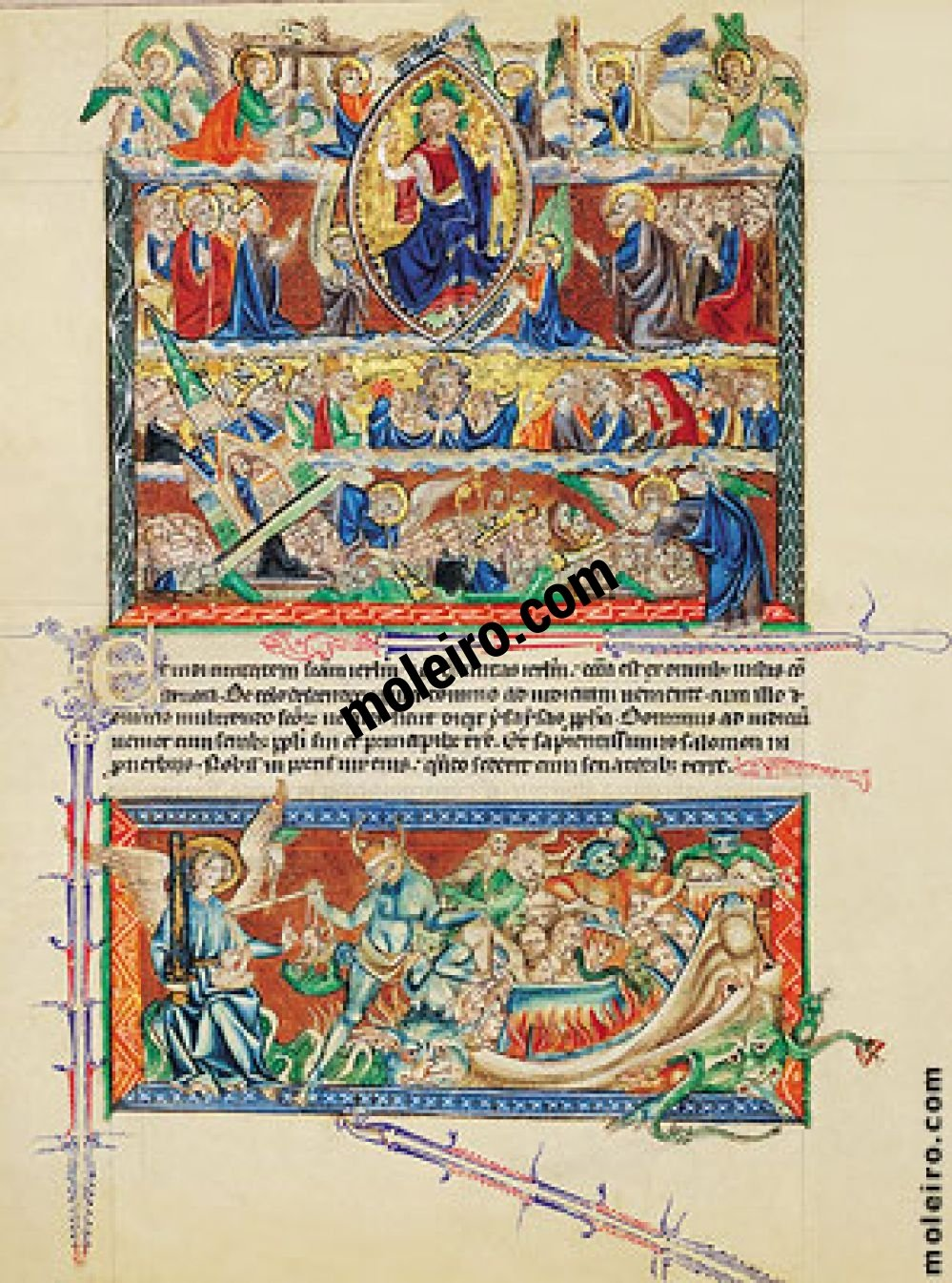 Gulbenkian Apocalypse f. 73v, The Lord's Judgement