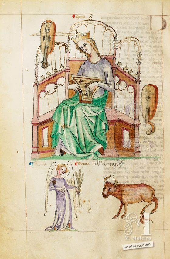 Venere, f. 42v. Trattato di Albumasar (Liber Astrologiae), Ms. Sloane 3983, metà del XV secolo.