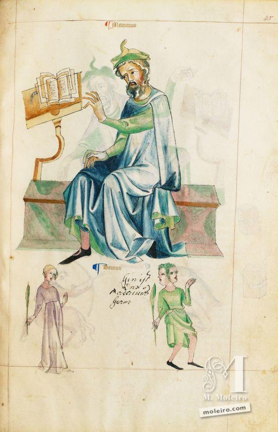 Mercúrio. Tratado de Albumasar (Liber Astrologiae), Ms. Sloane 3983, The British Library, finais do séc. XIV.