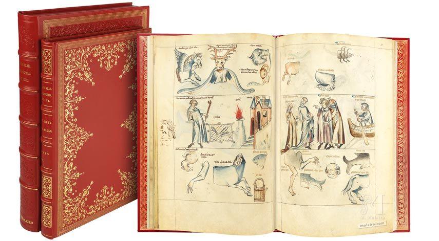 Tratado de Albumasar (Liber astrologiae), Sloane Ms.3983, mediados del siglo XIV. Manuscrito iluminado, tratado de astrología