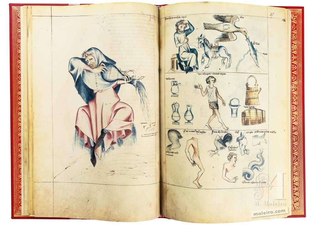 Traité d'Albumasar (Liber astrologiae) Verseau, ff. 26v-27r