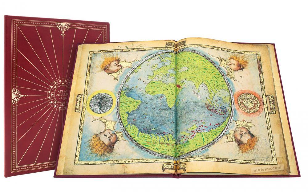 Atlas Miller: Bound Presentation Storage case and Planisphere