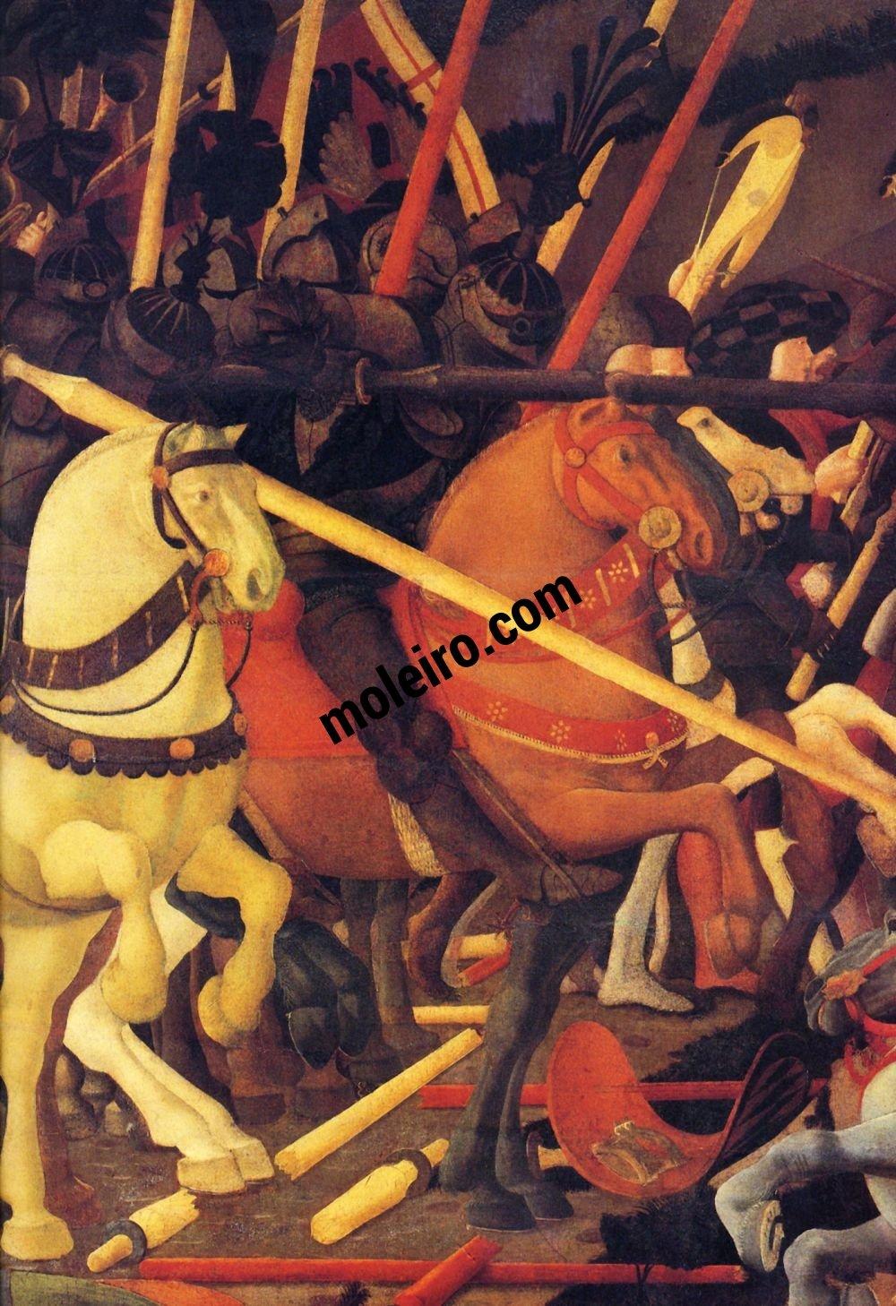 El Arte en el Renacimiento Paolo Uccello, Batalla de San Romano, detalle, Florencia, Galleria degli Uffizi