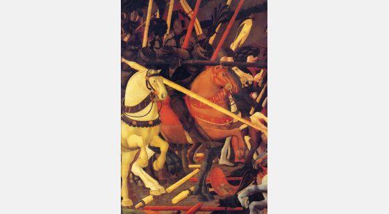 El Arte en el Renacimiento Paolo Uccello, Battaglia di San Romano, particolare, Firenze, Galleria degli Uffizi.
