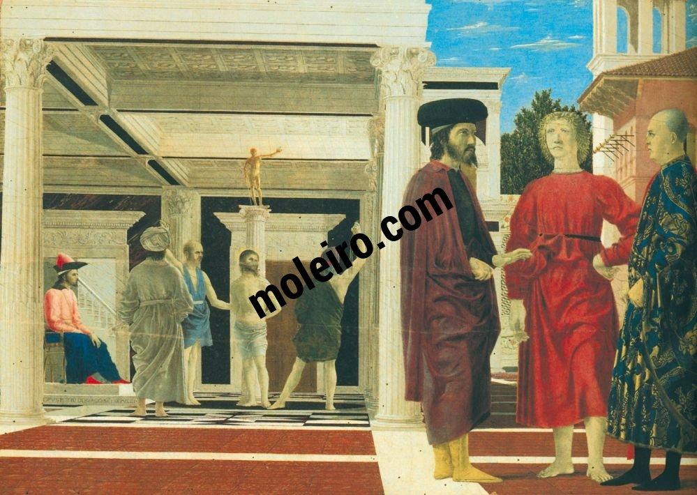 El Arte en el Renacimiento Piero della Francesca, Die Geiselung, Urbino, Nationalgalerie der Marken.