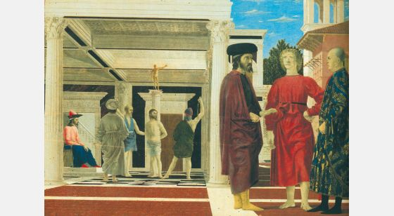 El Arte en el Renacimiento Piero della Francesca, Flagellation, Urbino, Galerie Nationale des Marches.