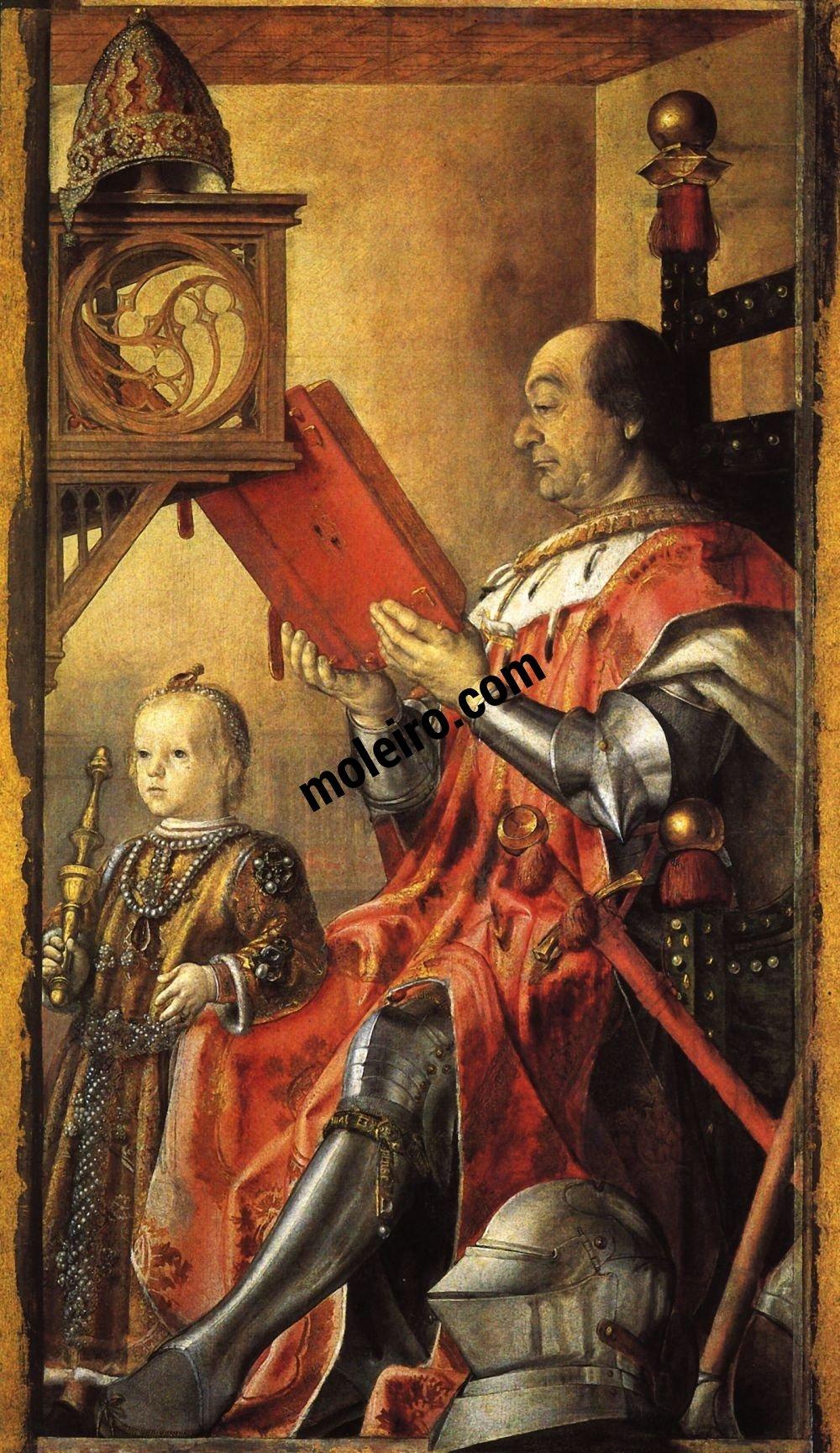 El Arte en el Renacimiento Pedro Berruguete, Federico de Montefeltro und sein Sohn Guidobaldo, Urbino, Nationalgalerie der Marken.