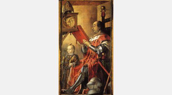 El Arte en el Renacimiento Pedro Berruguete, Federico de Montefeltro et son fils Guidobaldo, Urbino, Galerie Nationale des Marches.