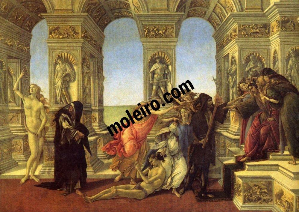 El Arte en el Renacimiento Sandro Botticelli, La calumnia, Florencia, Galleria degli Uffizi