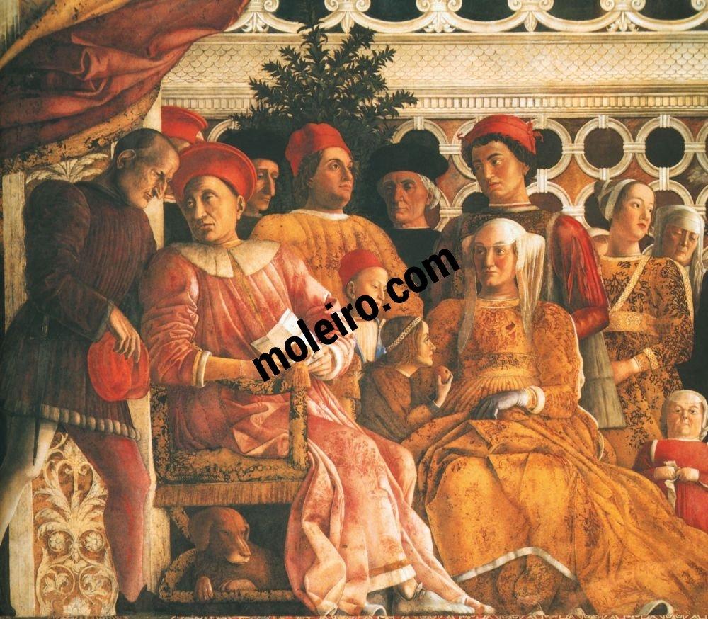 El Arte en el Renacimiento Andrea Mantegna, La corte, Mantua, Palacio Ducal, Cámara de los Esposos
