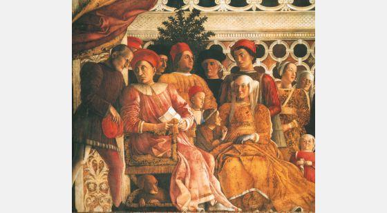 El Arte en el Renacimiento Andrea Mantegna, O tribunal, Mantua, o Palácio Ducal, Casa do marido