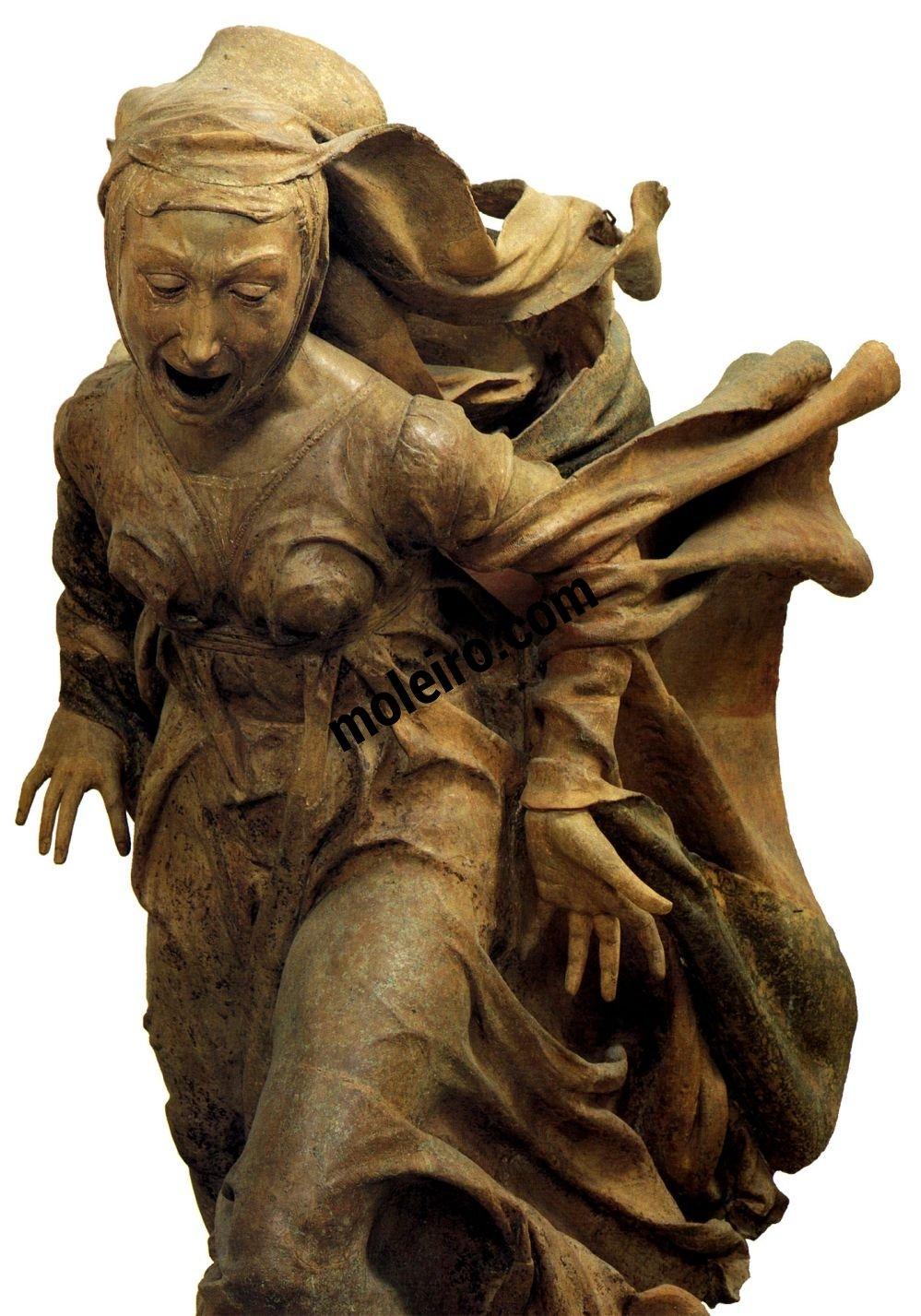 El Arte en el Renacimiento Niccolò dell'Arca, Pietà, detalhe, Bolonha, Santa Maria della Vita