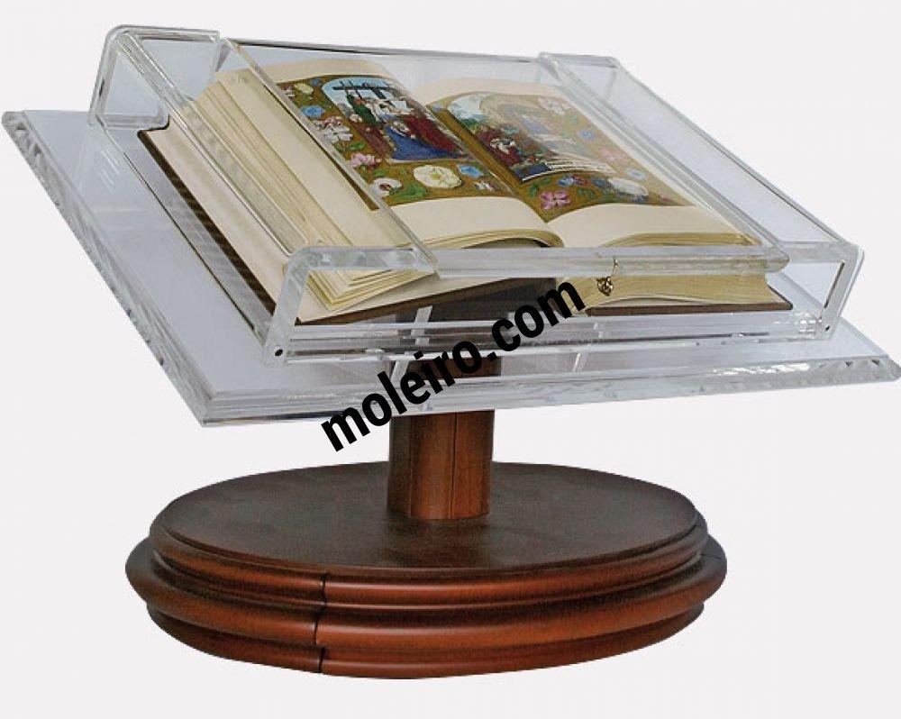 Holz-Lesepult für Kodizes mittlerer Größe Lesepult mit dem Stundenbuch von Johanna, der Wahnsinnigen