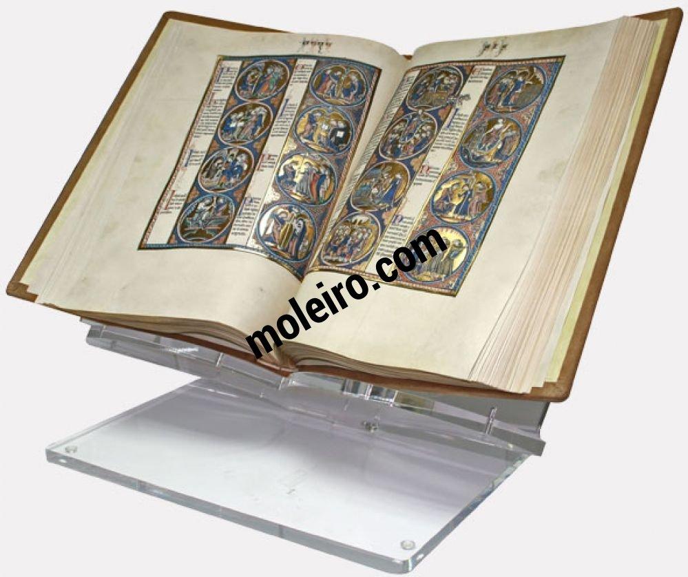 Atril de metacrilato grande Atril con la Biblia de San Luis