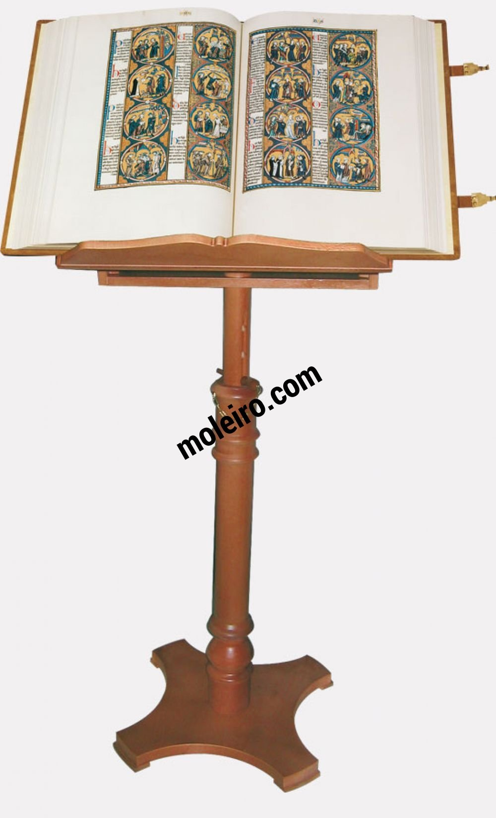 Atril de pie en madera Atril con la Biblia de San Luis