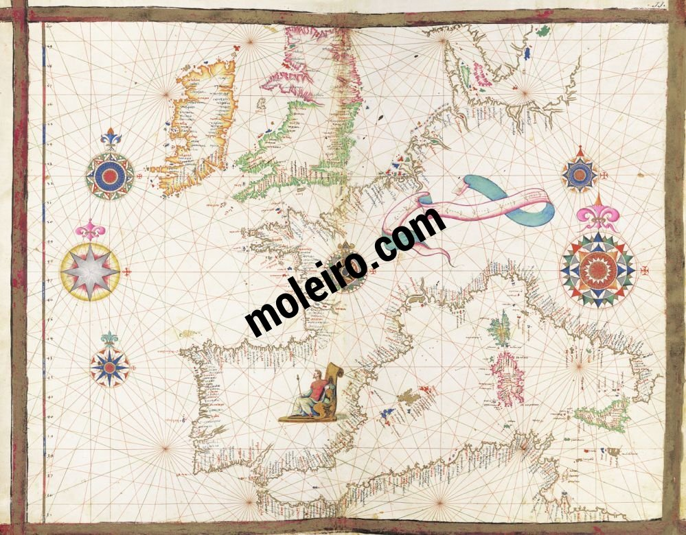 Universal Atlas Map No. 11. Coast of Western Europe and the Mediterranean