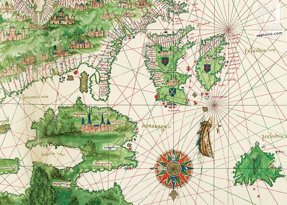 Map of Europe and North Africa of the Vallard Atlas (1547), in