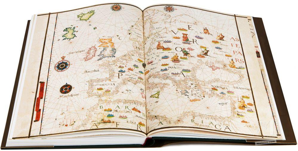 Atlas Universal de Diogo Homen  Mapa de Europa en el libro de arte del Atlas Universal de Diogo Homem (S. XVI)