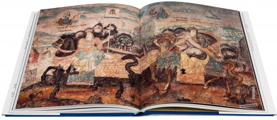 El Águila y la Sibila. Frescos indios de México Frescos de laiglesia de Ixmiquilpan, Escena de combate